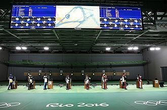 Shooting at the 2016 Summer Olympics – Women's 10 metre air rifle - Image: Shooting at the 2016 Olympics – Women's 10 metre air rifle (cropped)