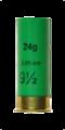 Shotgun Shell 12-70 Gauge 70mm No 9.5 2mm 24g green transparent.png