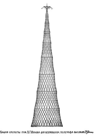 Shukhov Tower - Shukhov Tower Project of 350 metres, 1919.