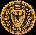 Siegelmarke Der Oberbürgermeister der Stadt Aachen W0211600.jpg
