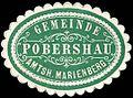 Siegelmarke Gemeinde Pobershau - Amtshauptmannschaft Marienberg W0253152.jpg