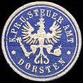 Siegelmarke Königlich Preussisches U. Steuer Amt - Dorsten W0234871.jpg