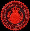 Siegelmarke K. Rektorat des Eberhard-Ludwigs Gymnasiums - Stuttgart W0308275.jpg
