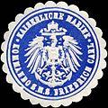 Siegelmarke Kaiserliche Marine - Kommando S.M.S. Friedrich Carl W0224505.jpg