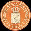 Siegelmarke Legation Royale des Pay - Bas a Berlin W0211519.jpg