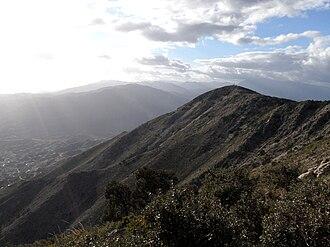 Sierra de Mijas - View west from Pico Mijas