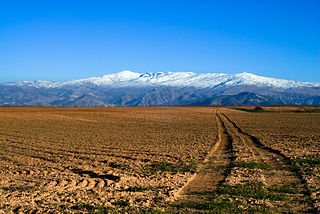 mountain range in southern Spain