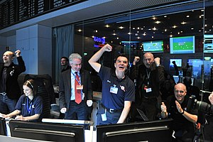 Philae (spacecraft) - Rosetta signal received at ESOC in Darmstadt, Germany (20 January 2014)