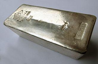 Silver (color) - Silver ingot