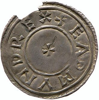 Edmund I - Silver penny of Edmund I