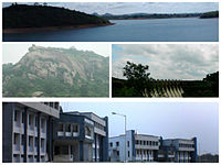 Clockwise - Kelaghagh Dam, Hilly Terrain, District Administration Office
