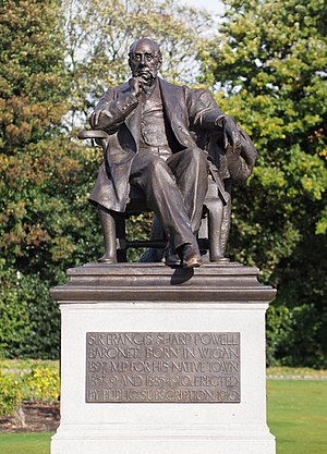 Sir Francis Powell, 1st Baronet - The statue was restored in 2012