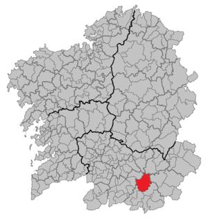 Laza, Spain - Image: Situacion Laza