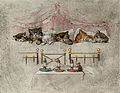Six kittens asleep in bed with a mouse and candles Wellcome V0050704ET.jpg