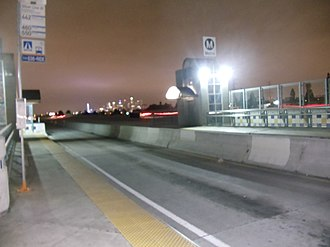 Harbor Transitway - The north bus entrance at the Slauson Silver Line Station.