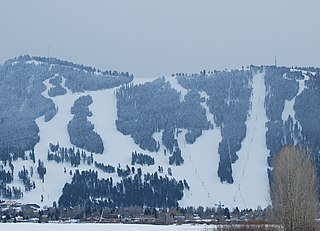 Snow King Mountain ski area and resort hotel in Jackson, Wyoming