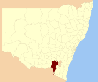 Snowy Valleys Council - Location in New South Wales