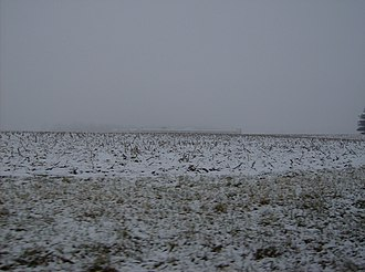 Forest Township, Clinton County, Indiana - Snow-covered corn fields in Forest Township