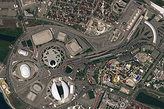 Sochi Autodrom - The circuit and the Olympic Park, as it appeared in 2018