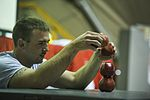Soldiers, airmen compete in 'Minute to Win It' game 131126-F-VU439-207.jpg