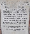 Soli Deo Gloria Szövetség emléktábla, Jókai park, 2019 Siófok.jpg