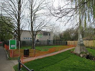 Somer Valley FM - Somer Valley FM radio station and Crimean War monument, Midsomer Norton.