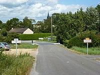 Sorbon (Ardennes) city limit sign.JPG