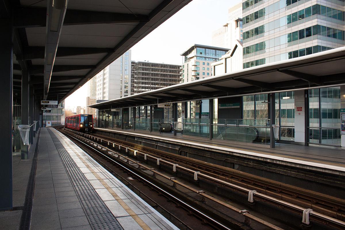 South Quay DLR station...
