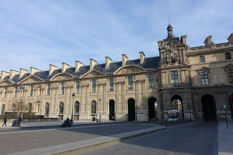 fichier south facade of the aile de rohan louvre 27 february wikip dia. Black Bedroom Furniture Sets. Home Design Ideas