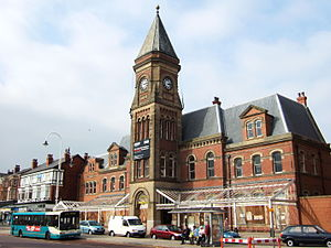 Southport Lord Street railway station - The frontage of Southport Lord Street railway station, now part of a Travelodge hotel chain.