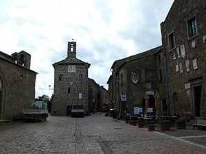 Sovana - The main square in Sovana