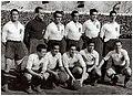 Spanish national football team before the match against France in Seville, 15.03.1942.jpg