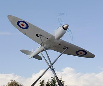 R. J. Mitchell - Sculpture at Southampton Airport, formerly Eastleigh Aerodrome, site of the Spitfire's first flight March 5, 1936