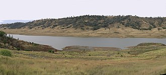 Split Rock Dam - Split Rock Reservoir, at 2.8% of its capacity, 2010.