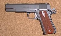 M1911A1 by Springfield Armory (contemporary remake of WWII G.I. Model, Parkerized)