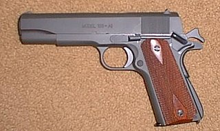Pistol Type of handgun where the firing chamber is integral to the barrel