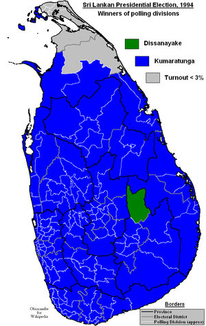 Sri Lankan presidential election, 1994 - Image: Sri Lankan Presidential Election 1994