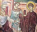 St. George before Diocletianus. A mural from the Ubisi Monastery, Georgia..jpg