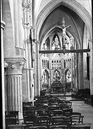 Reims - Interior of St Jacques, 1907.