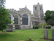 St Marys Church, Luton town centre, founded in 1121 by Robert, 1st Earl of Gloucester.