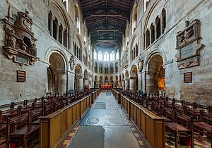 Norman and Medieval London - Church of St Bartholomew the Great, surviving Norman chancel, c. 1123