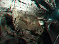 St Beatus Caves Stalagmite Anaglyph 3D.JPG