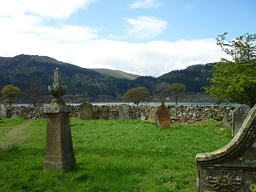 St Begas Church, Bassenthwaite - churchyard looking toward Bassenthwaite.JPG - panoramio