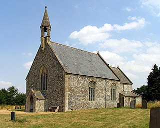 Stow Bedon village in the United Kingdom