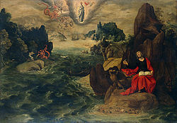Tobias Verhaecht: Landscape with St John the Evangelist at Patmos