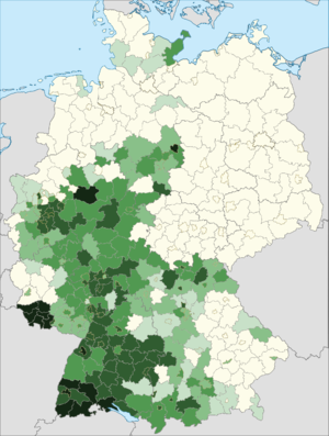 Italians in Germany - Distribution of Italian citizens in Germany (2014).