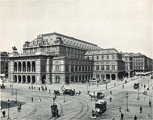 Repertory of the Vienna Court Opera under Gustav Mahler - The Vienna Hofoper (now Staatsoper), pictured in 1898 during Mahler's conductorship