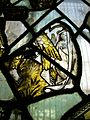 Stained glass fragment, Great Malvern.JPG