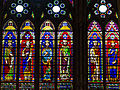 Stained glass window in the Basilica of Saint Denis, Paris, France.JPG