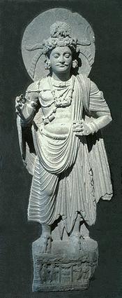 Budizam - Page 5 175px-Standing_Bodhisattva_Gandhara_Musee_Guimet